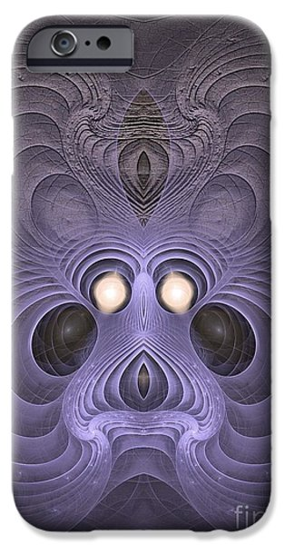 Colorful Abstract Algorithmic Contemporary iPhone Cases - Hypnotized iPhone Case by Sipo Liimatainen