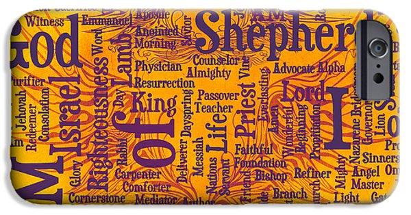 Bridegroom iPhone Cases - I Am Shepherd 2 iPhone Case by Angelina Vick