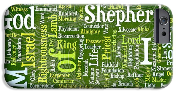 Bridegroom iPhone Cases - I Am Shepherd iPhone Case by Angelina Vick