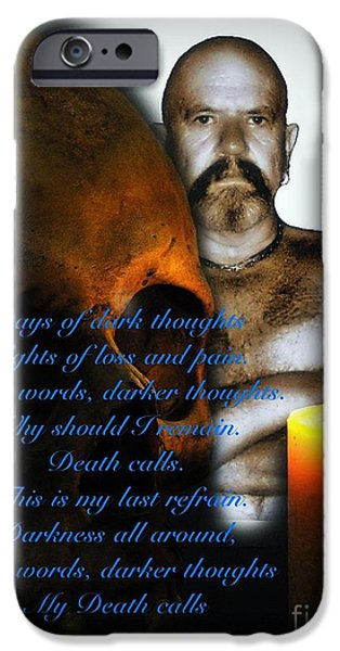 Disorder Mixed Media iPhone Cases - I awoke from a terrible Dream 2 iPhone Case by Blair Stuart