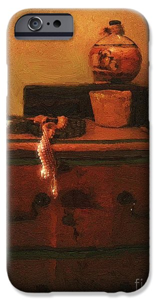 Jewellery Digital Art iPhone Cases - I Do Love Pearls iPhone Case by RC DeWinter