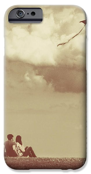 Dipasquale iPhone Cases - I Had A Dream I Could Fly From the Highest Swing iPhone Case by Dana DiPasquale