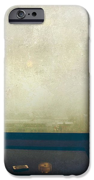 I Just Sat There Staring Out At The Fog iPhone Case by Laurie Search