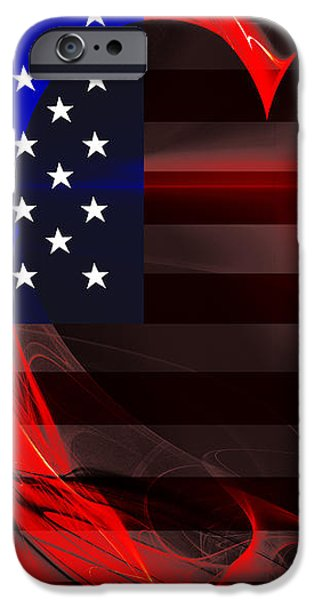 I Love America iPhone Case by Wingsdomain Art and Photography