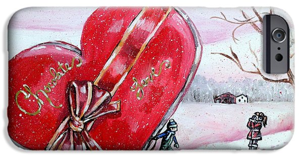 Best Sellers -  - Red Barn In Winter iPhone Cases - I Love You THIIIS Much iPhone Case by Shana Rowe