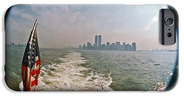 Twin Towers Nyc iPhone Cases - I Remember iPhone Case by David Rucker