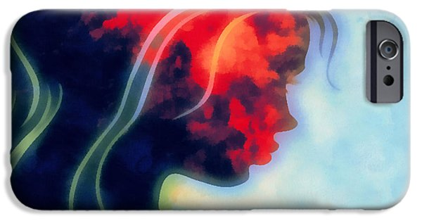 Inner Self Digital Art iPhone Cases - I Walked Away 2 iPhone Case by Angelina Vick