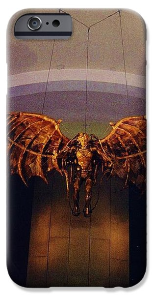 Icarus in the Louis Armstrong International Airport in New Orleans iPhone Case by John Malone