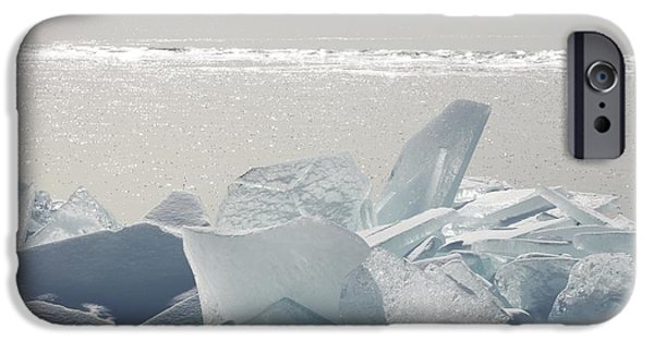 Design Pics - iPhone Cases - Ice Chunks On The Shores Of Lake iPhone Case by Susan Dykstra
