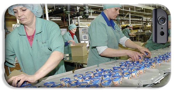 Production Line iPhone Cases - Ice Cream Production Line iPhone Case by Ria Novosti