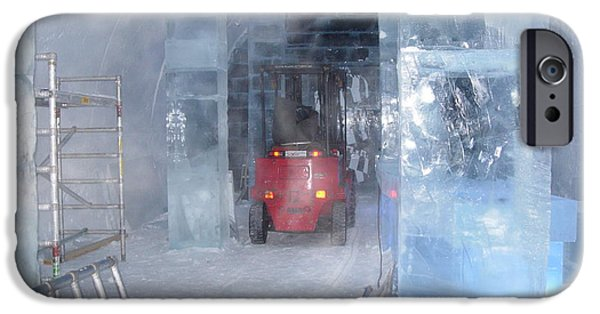 Building Glass Art iPhone Cases - Ice truck iPhone Case by Maria Joy