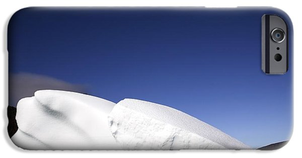 Drifting Snow Photographs iPhone Cases - Iceberg In Canadian Arctic iPhone Case by Richard Wear