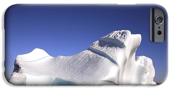 Drifting Snow Photographs iPhone Cases - Iceberg In The Canadian Arctic iPhone Case by Richard Wear