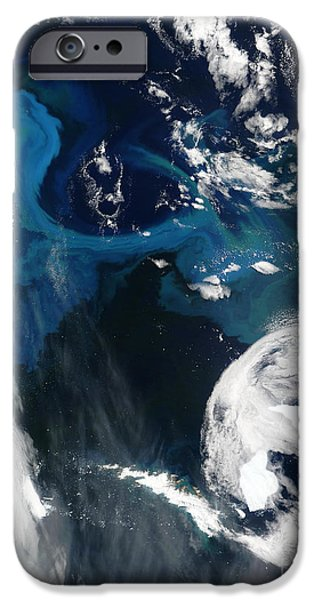 Phytoplankton iPhone Cases - Icebergs Near South Georgia Island iPhone Case by Nasa