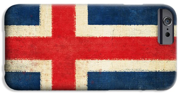 Sheets iPhone Cases - Iceland flag iPhone Case by Setsiri Silapasuwanchai