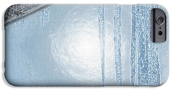 Sun Breaking Through Clouds iPhone Cases - Icicles 1 - Hanging From the Eaves iPhone Case by Steve Ohlsen