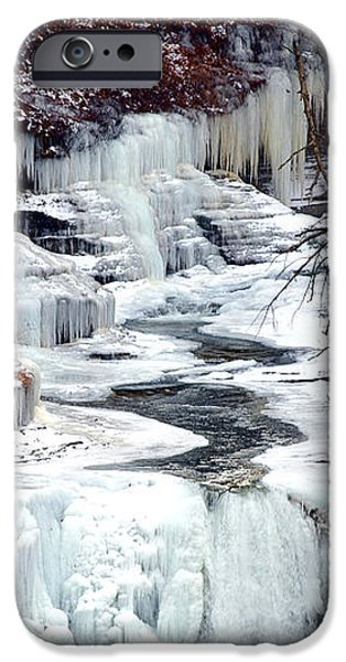 Icy waterfalls iPhone Case by Paul Ge