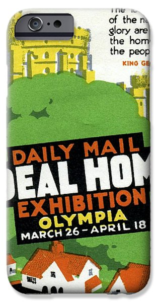 Endorsement iPhone Cases - Ideal Home Exhibition Stamp, 1920 iPhone Case by Cci Archives