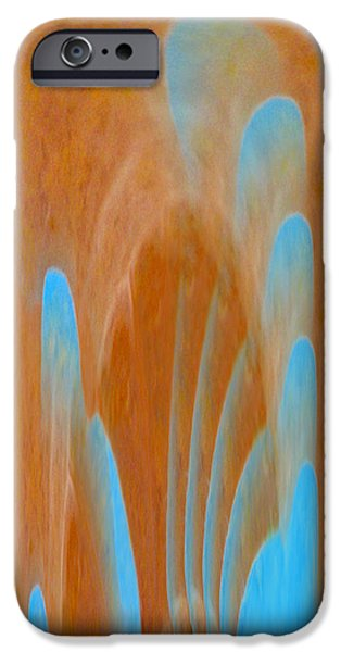 Larnaca iPhone Cases - Idol of Pomos Abstract iPhone Case by Augusta Stylianou