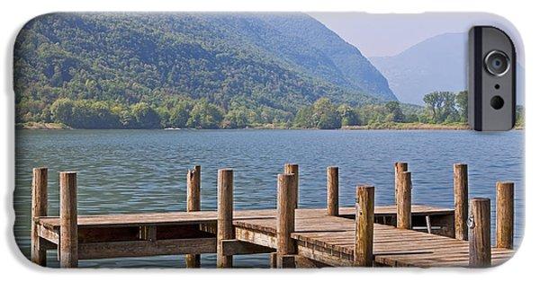 Mountain iPhone Cases - idyllic tarn in Italy iPhone Case by Joana Kruse