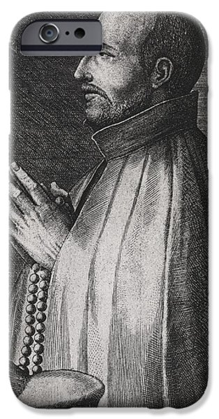 Seventeenth Century iPhone Cases - Ignatius Of Loyola, Spanish Saint iPhone Case by Middle Temple Library
