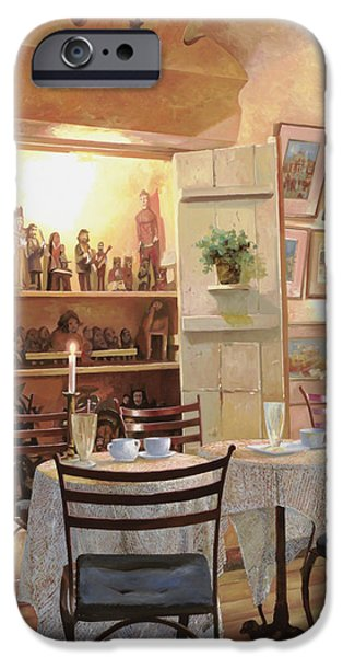 Dating iPhone Cases - Il Caffe Dellarmadio iPhone Case by Guido Borelli