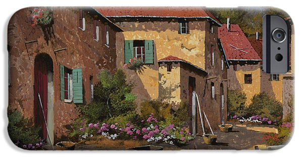 Farm iPhone Cases - Il Carretto iPhone Case by Guido Borelli