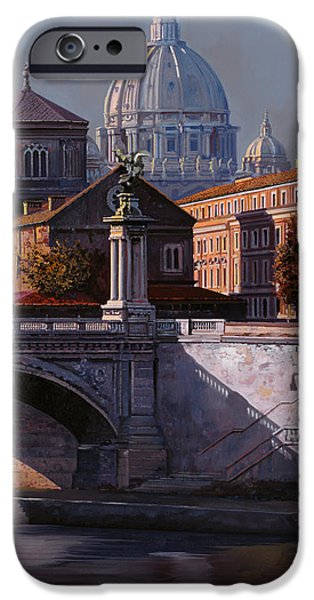 City Scenes iPhone Cases - Il Cupolone iPhone Case by Guido Borelli