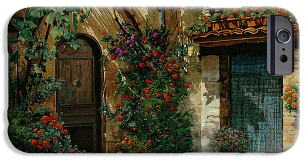 Hotels iPhone Cases - Il Giardino Francese iPhone Case by Guido Borelli