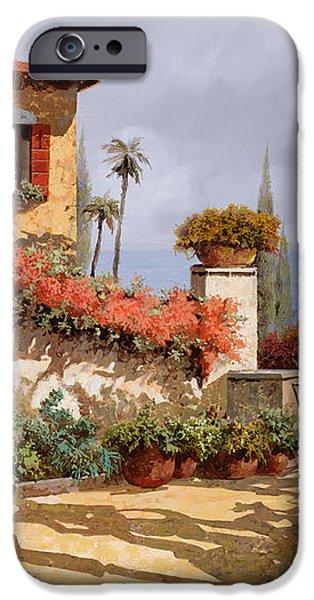 il giardino rosso iPhone Case by Guido Borelli