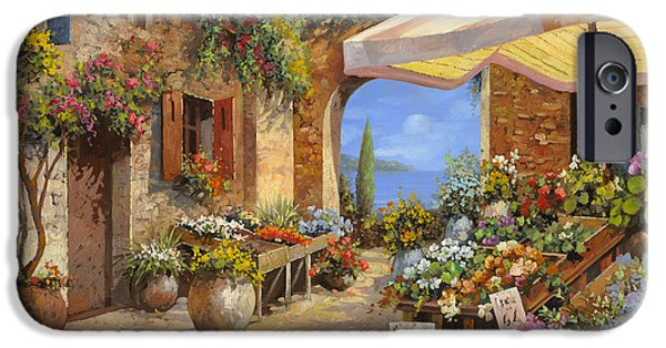 Italy iPhone Cases - Il Mercato Del Lago iPhone Case by Guido Borelli