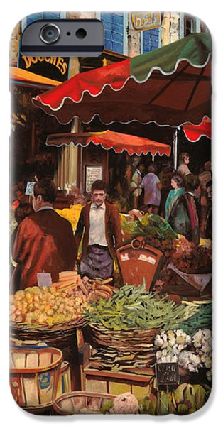 il mercato di quartiere iPhone Case by Guido Borelli