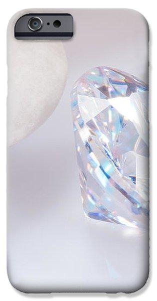 illuminate diamond iPhone Case by ATIKETTA SANGASAENG