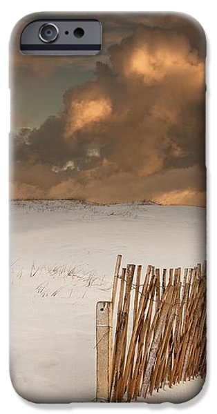 Illuminated Clouds Glowing Over A Snow iPhone Case by John Short