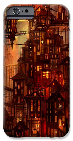 Surreal Mixed Media iPhone Cases - Illuminations iPhone Case by Philip Straub