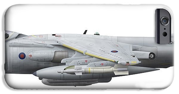 Weapon iPhone Cases - Illustration Of A British Aerospace iPhone Case by Chris Sandham-Bailey