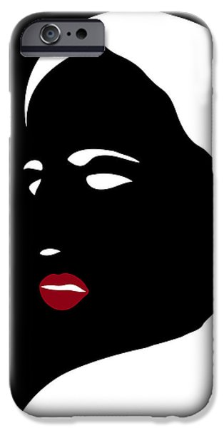 Abstract Drawings iPhone Cases - Illustration of a woman in fashion iPhone Case by Frank Tschakert
