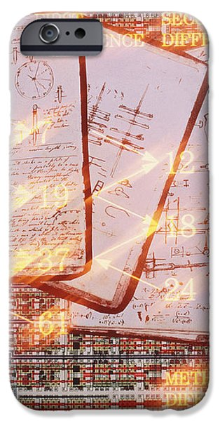 Illustration Of Babbage's Method Of Differences iPhone Case by Frances Evelegh