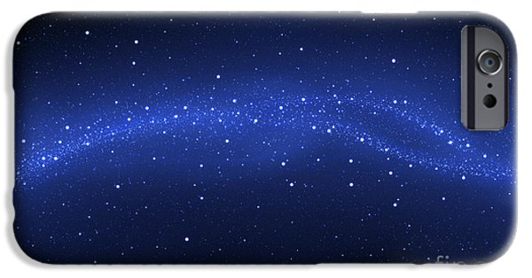 Cyberspace iPhone Cases - Illustration Of The Milky Way iPhone Case by Vlad Gerasimov