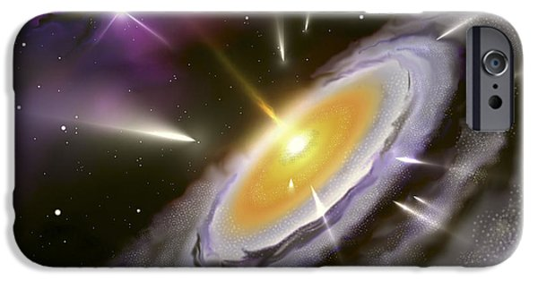 Jet Star Digital Art iPhone Cases - Illustration Showing The Formation iPhone Case by Miguel Claro