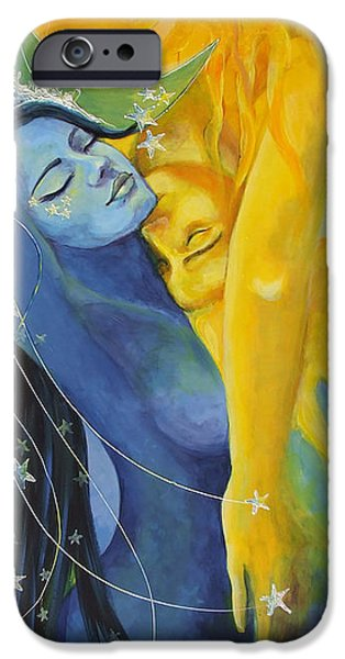 Celestial Paintings iPhone Cases - Ilusion from Impossible Love series iPhone Case by Dorina  Costras
