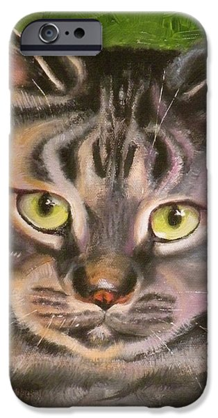 Im Your Man Tabby iPhone Case by Susan A Becker