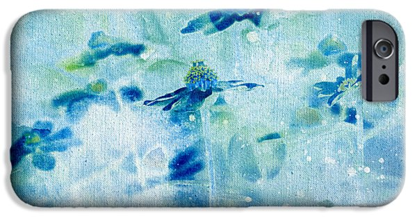 Flora Mixed Media iPhone Cases - Imagine - m11v09 iPhone Case by Variance Collections