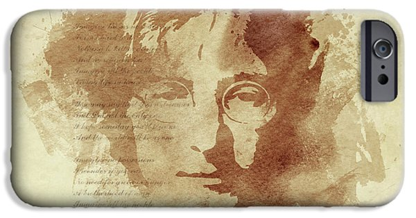 John Lennon iPhone Cases - Imagine iPhone Case by Laurence Adamson