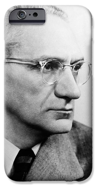 1950s Portraits iPhone Cases - Immanuel Velikovsky iPhone Case by Granger