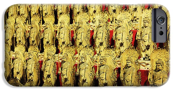 Recently Sold -  - Buddhism iPhone Cases - Immovable King Statues iPhone Case by Jeremy Woodhouse