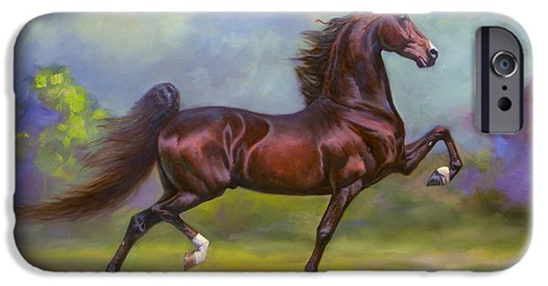 American Saddlebred iPhone Cases - Imperator iPhone Case by Jeanne Newton Schoborg