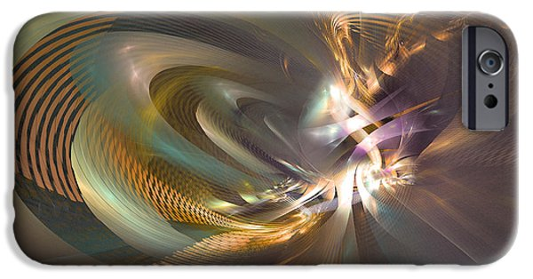 Colorful Abstract Algorithmic Contemporary iPhone Cases - In a fog - Fractal art iPhone Case by Sipo Liimatainen