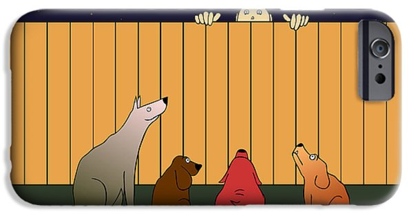 Funny Dog Digital Art iPhone Cases - In Bad Time On The Bad Place iPhone Case by Michal Boubin