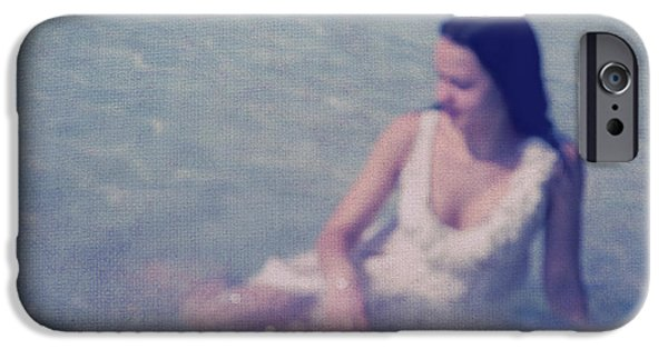 Bathing iPhone Cases - In Blue. Impressionism iPhone Case by Jenny Rainbow